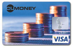A CUMONEY prepaid debit card.